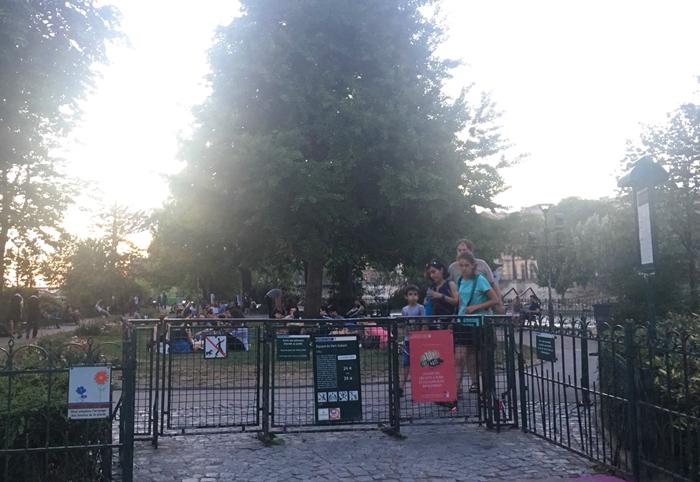 パリ 公園 ポンヌフ ピクニック
