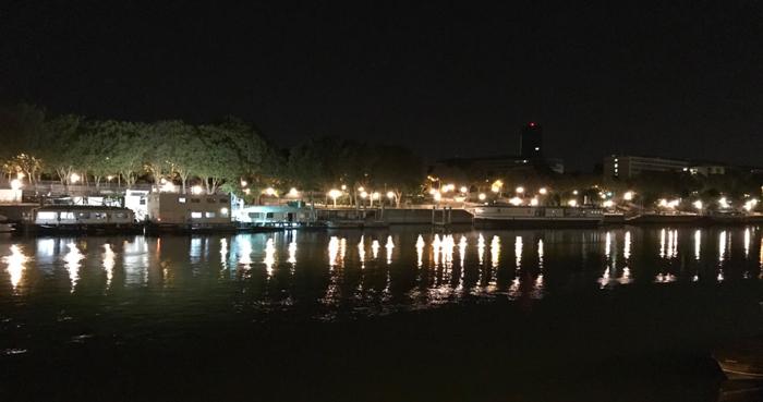 パリ セーヌ川 ナイトクラブ