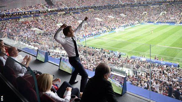 パリ ワールドカップ マクロン