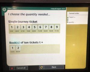 パリ メトロ チケット 販売機