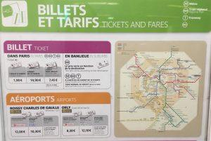 パリ メトロ チケット 料金