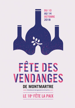モンマルトル ブドウの収穫祭 ワイン