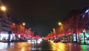 パリ シャンゼリゼ クリスマス ライトアップ